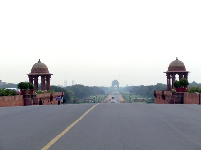 India Gate in the mist, Rajpath, New Delhi