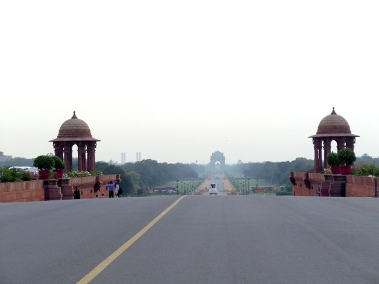 India Gate in the mist, Rajpath, New Delhi