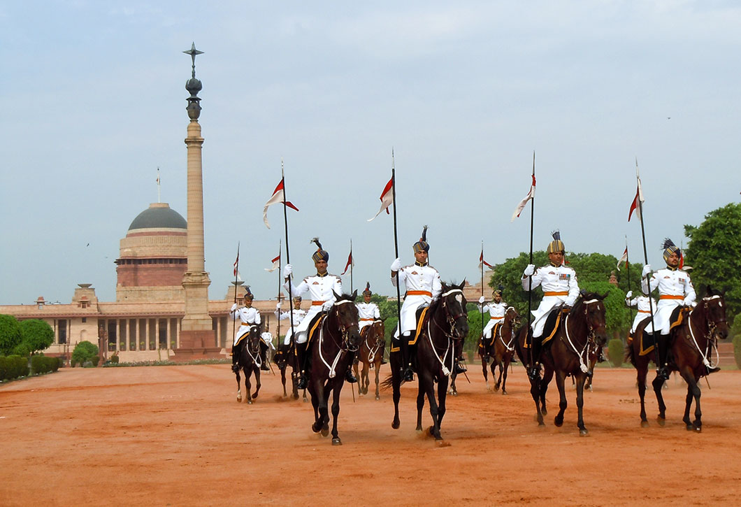 Changing of the guard at Rashtrapathi Bhavan