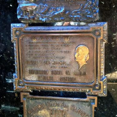 Family Duarte Plaque - Recoleta Cemetery