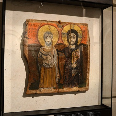 Christ & Abbot Mena - Musee du Louvre