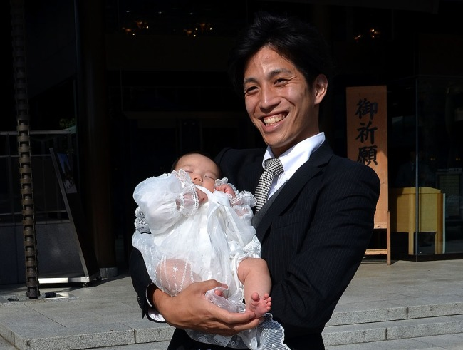 Father and son - Meiji Jingu Shrine, Tokyo