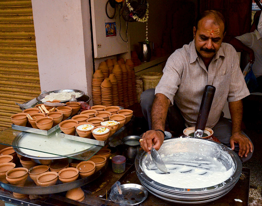 Lassi seller, Varanasi