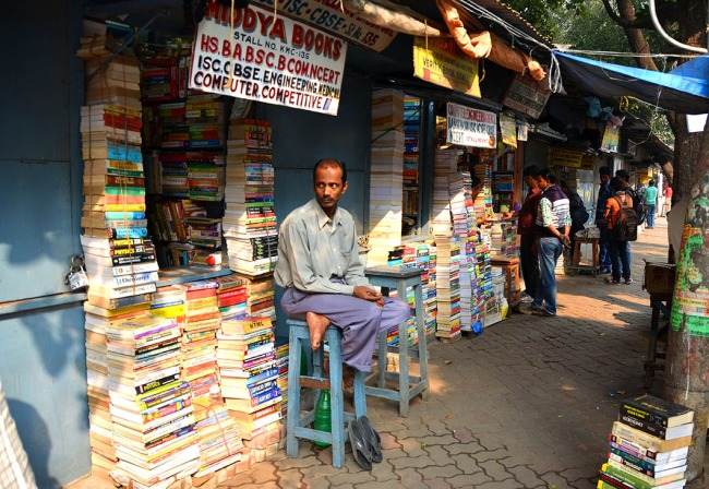 Bookseller on College Street - Kolkata