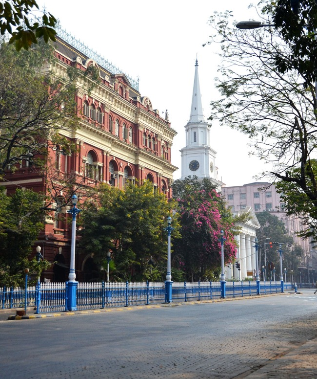 Writers building and St. Andrew's Church, Kolkata