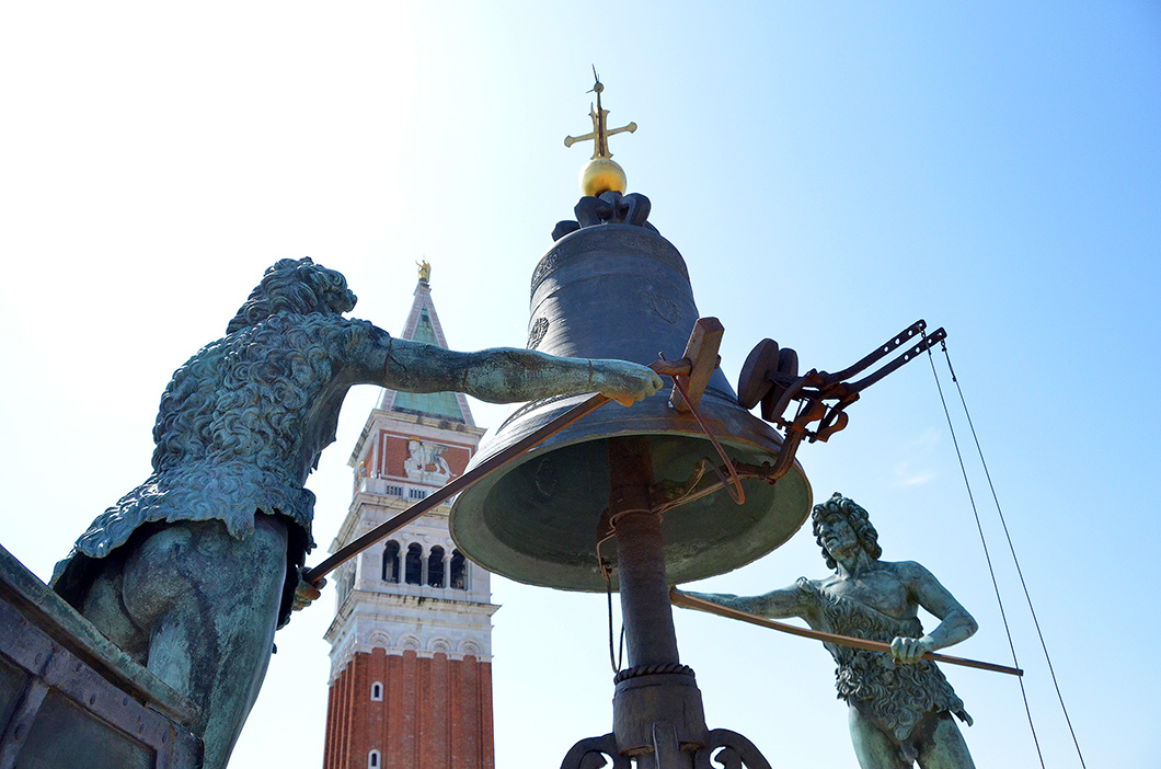 Moors atop the Torre dell' Orologio, Venice