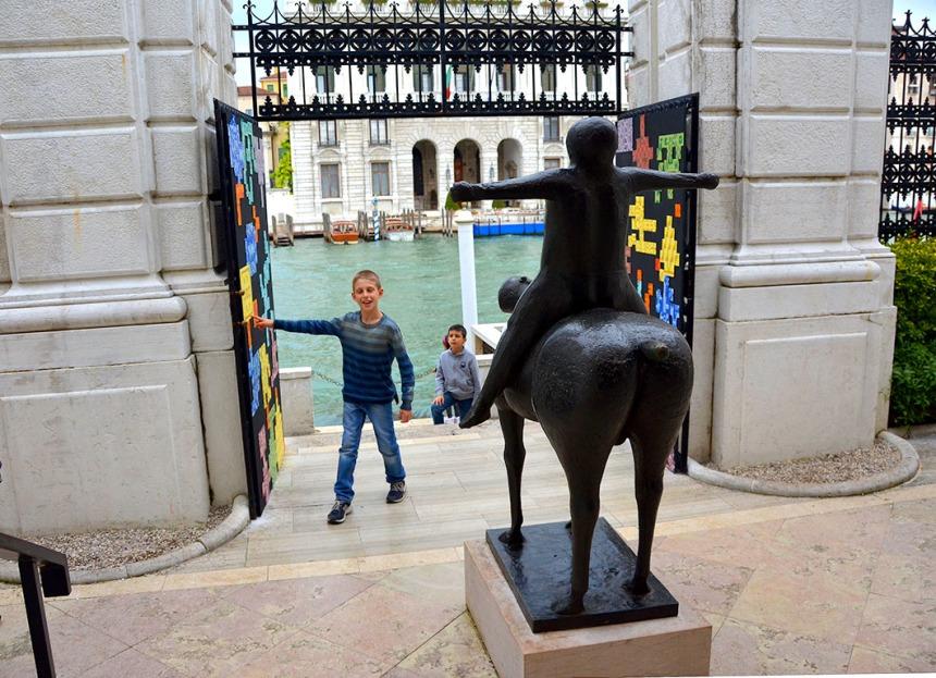 Marino Marini's bronze sculpture in the Peggy Guggenheim Museum