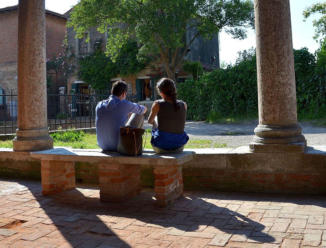 Seated Couple In Torcello