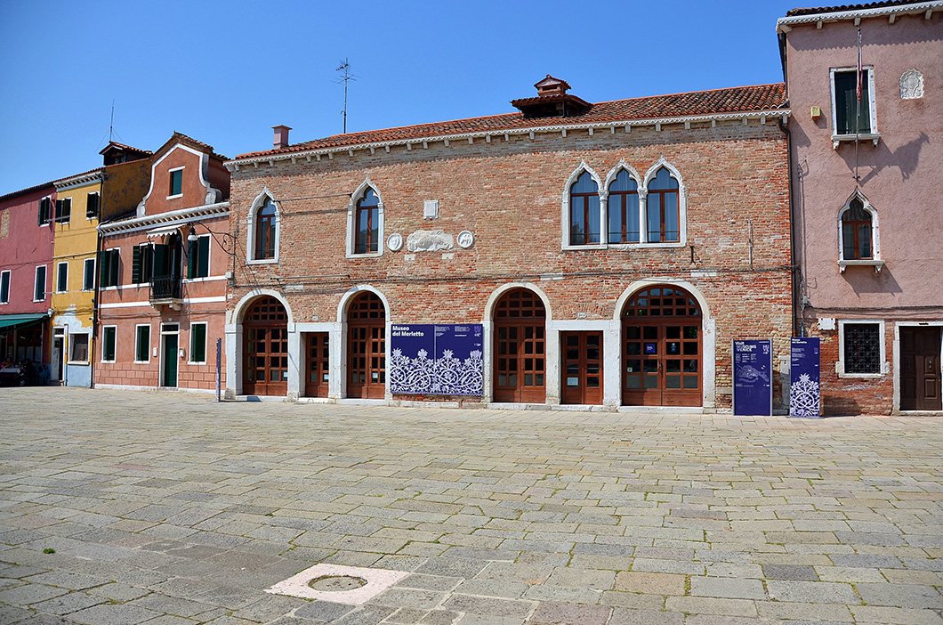The Palace of Podesta of Torcello in the Piazza Galuppi - now the Lace Museum.
