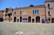 The Palace of Podesta of Torcello in the Piazza Galuppi - now the Lace Museum. It was closed for May Day sadly.