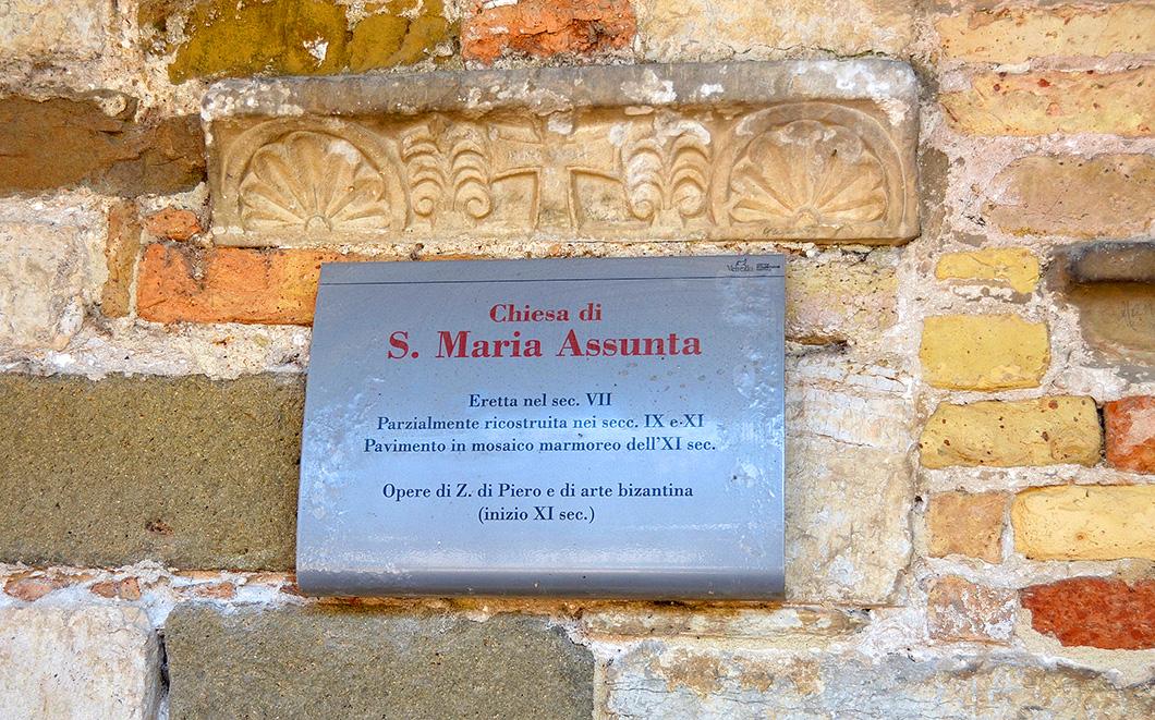 Sign Bard of Church of Santa Maria Asunta