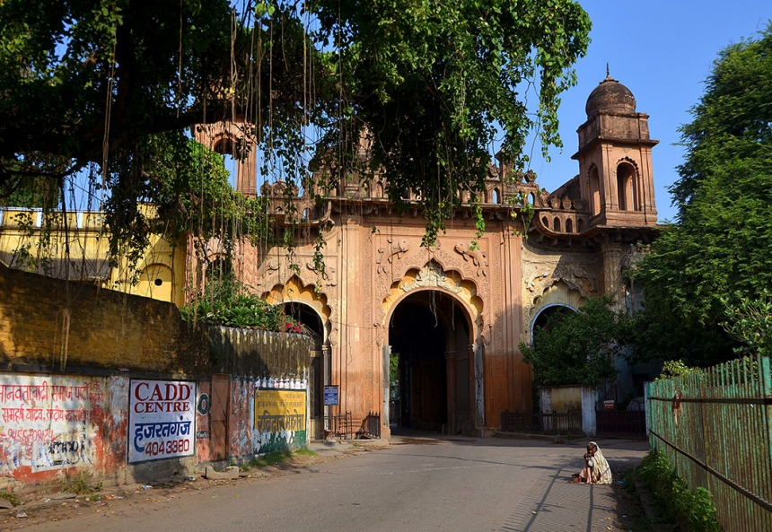 Gate to the Qaiserbagh Palace complex that housed the royal harem. The palaces wee demolished by the British after the rebellion.