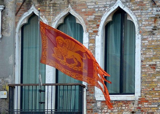 On a flag.