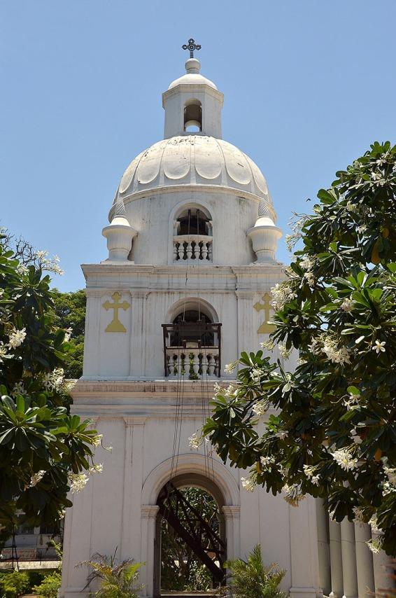 The belfry of Saint Mary's Apostolic Church in Chennai