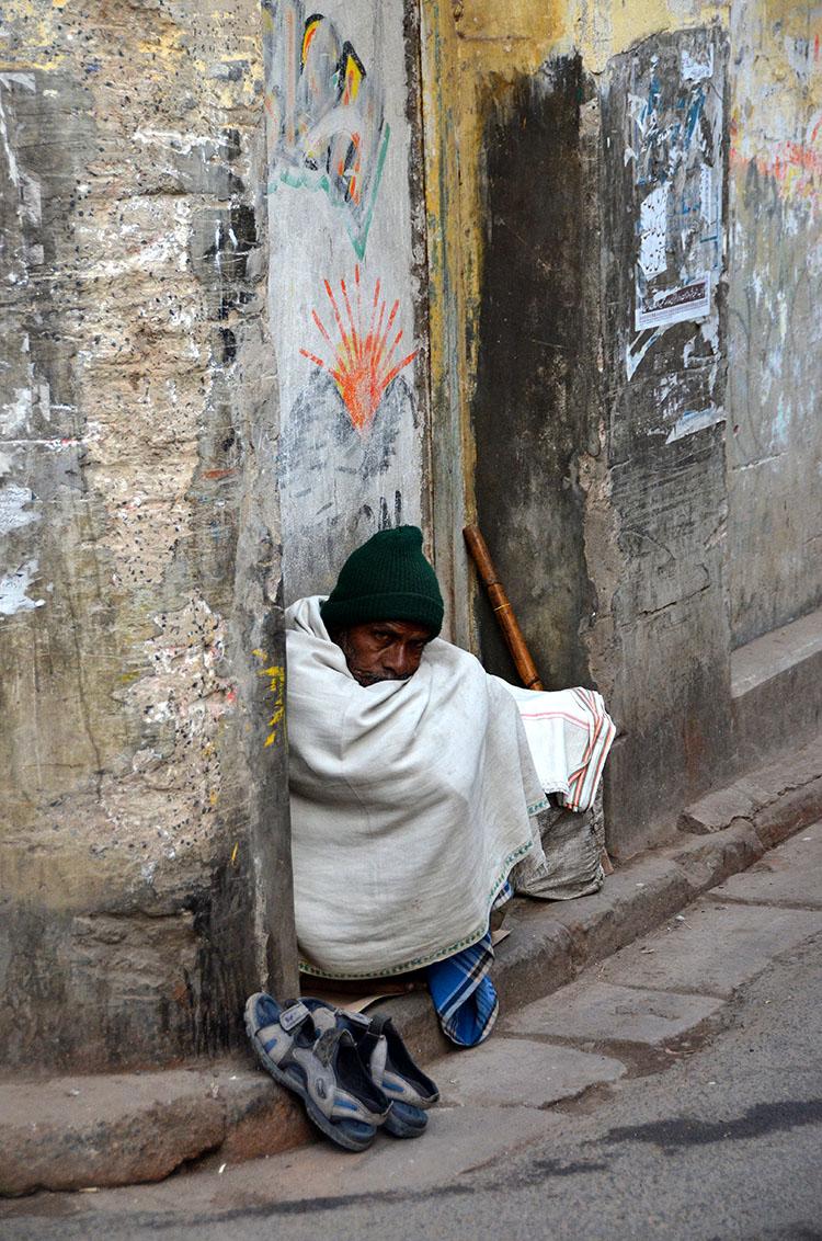 Homeless man - Kolkata