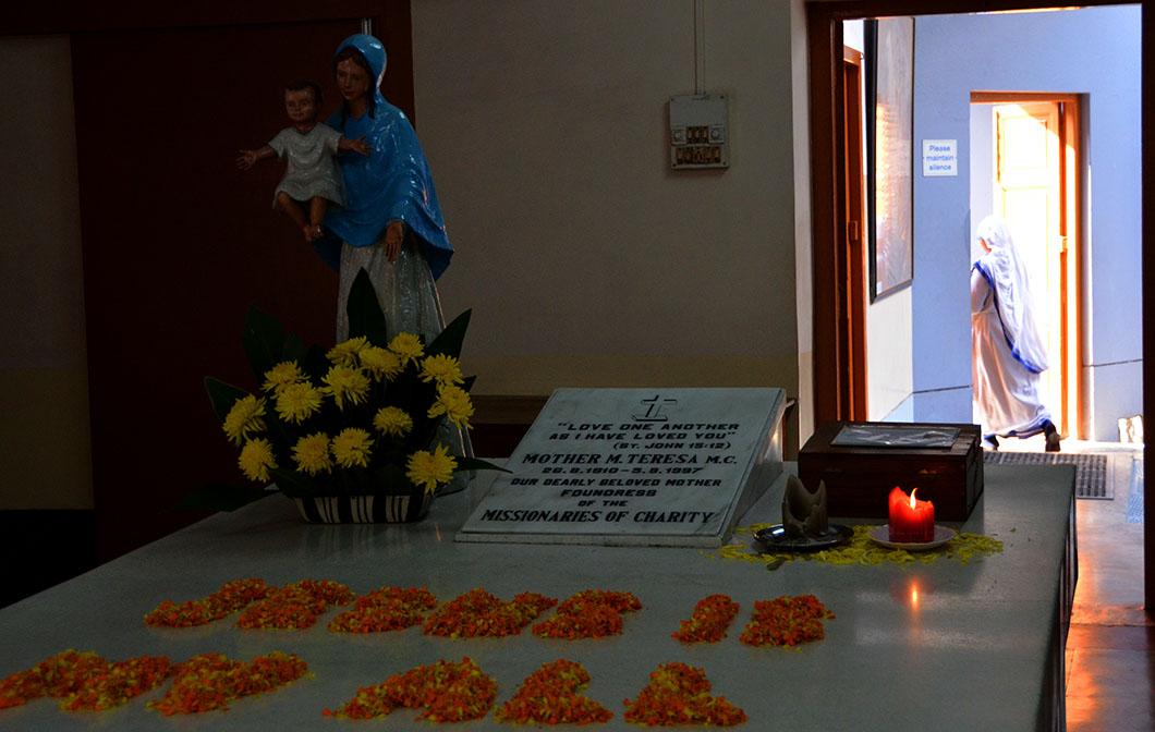 Mother Teresa's tomb at Motherhouse.
