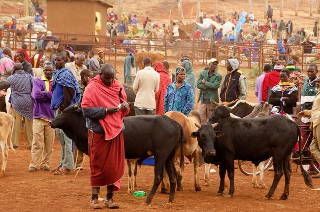 Masaai market near Ngorongoro, Tanzania