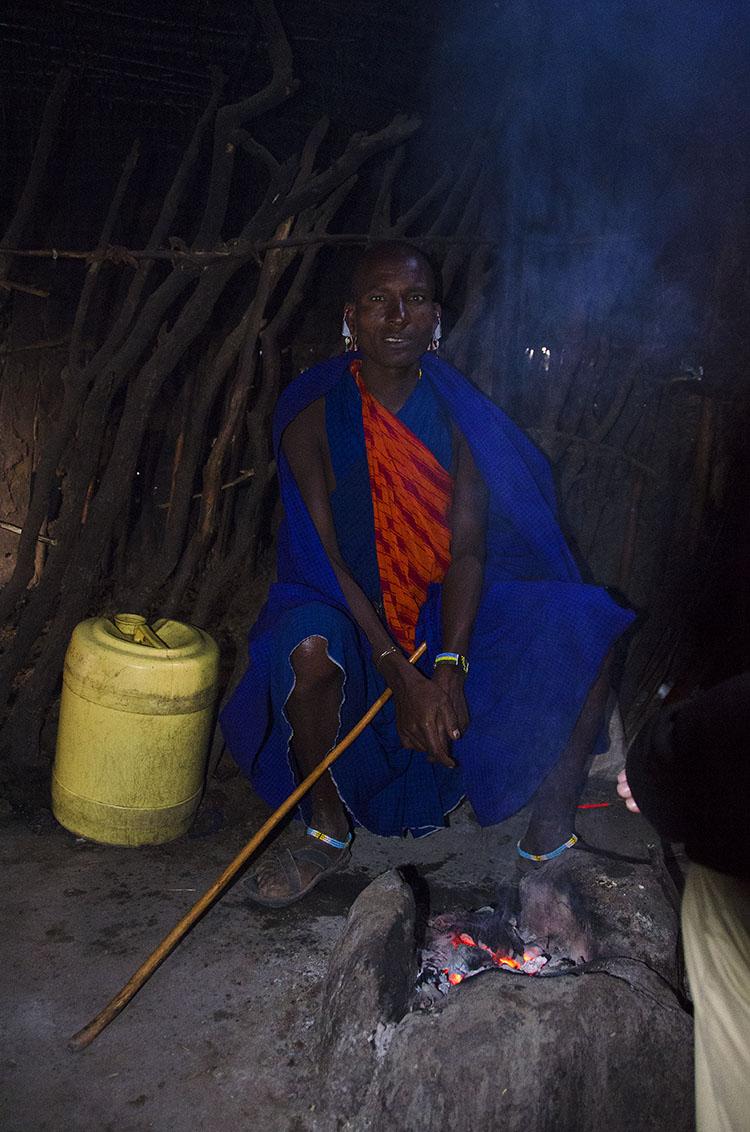 Interior of Masaai hut