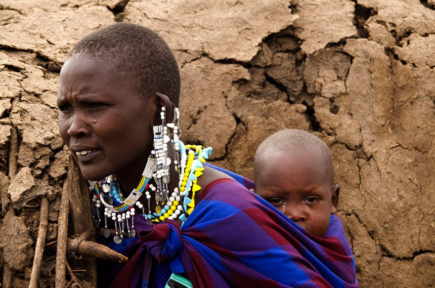 Masaai mother and child