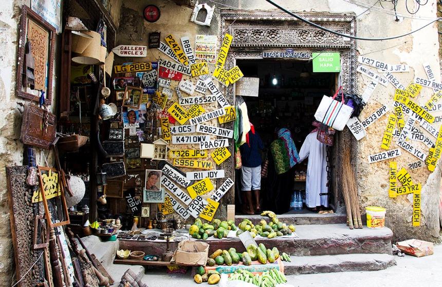 Shop front in Zanzibar, Tanzania
