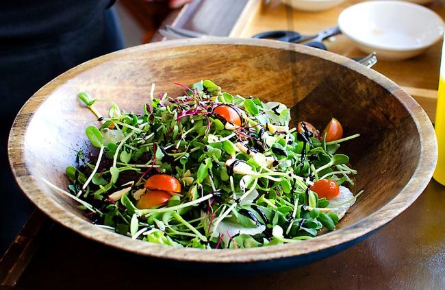 Live Micro Green Salad - Fava, Bangalore