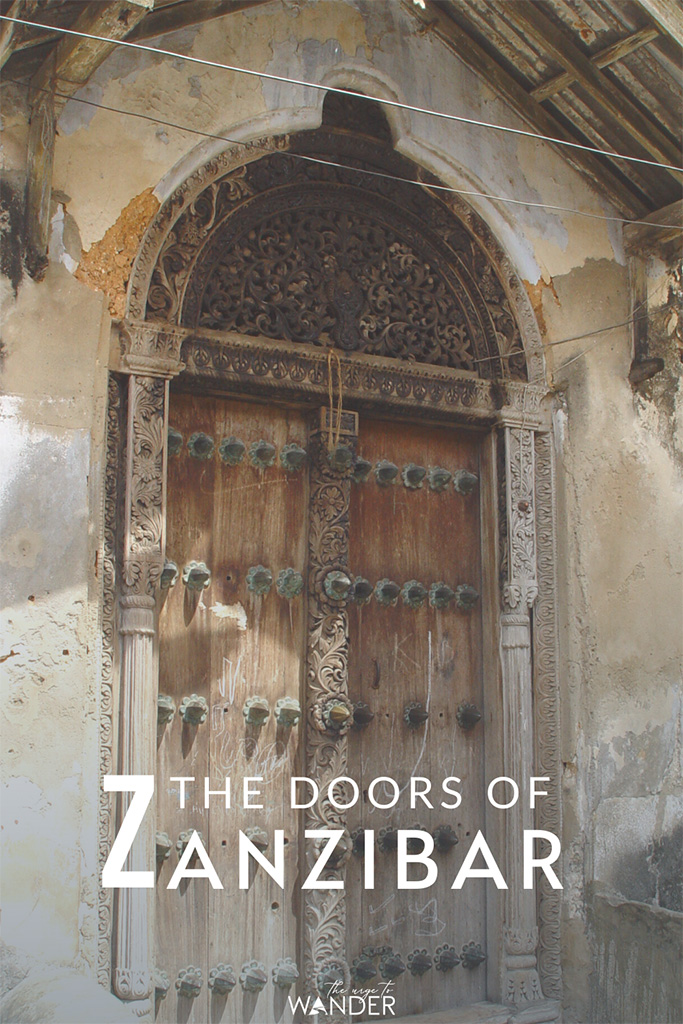 A typical Zanzibari door: The carved wooden doors of Stone Town, Zanzibar are striking reminders of the island's affluent past and a cultural heritage worth exploring.
