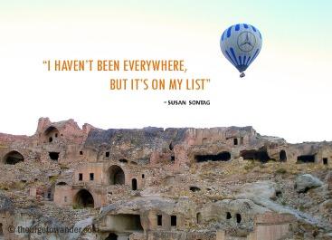From our balloon ride over Cappadocia, Turkey