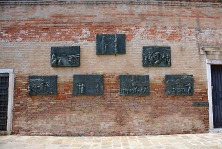 The Holocaust Memorial: A set of bronze plaques by sculptor Arbit Blatas depicting Nazi brutality against resident Jews.