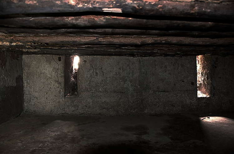 The depressing slave holding area below ground.