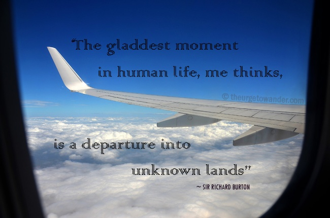 Travel Quote - Departure into unkown lands