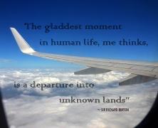 Travel Quote - Departure into unknown lands
