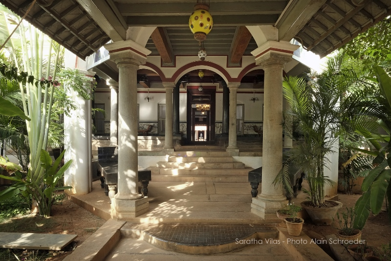 Entrance foyer of Saratha Vilas. (Courtesy: Saratha Vilas)