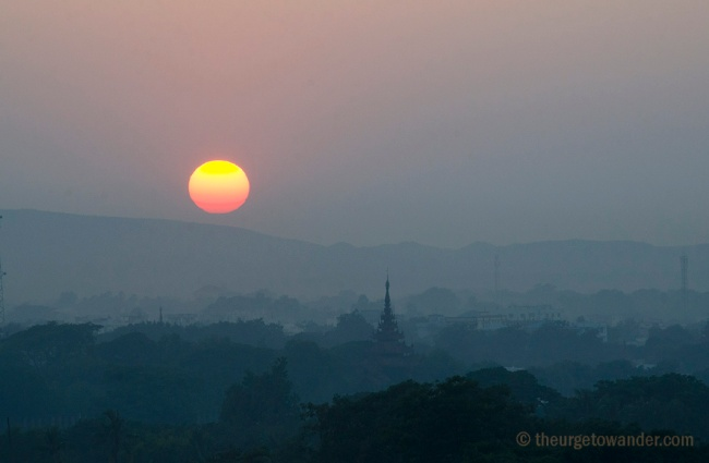 Sunset in Mandalay