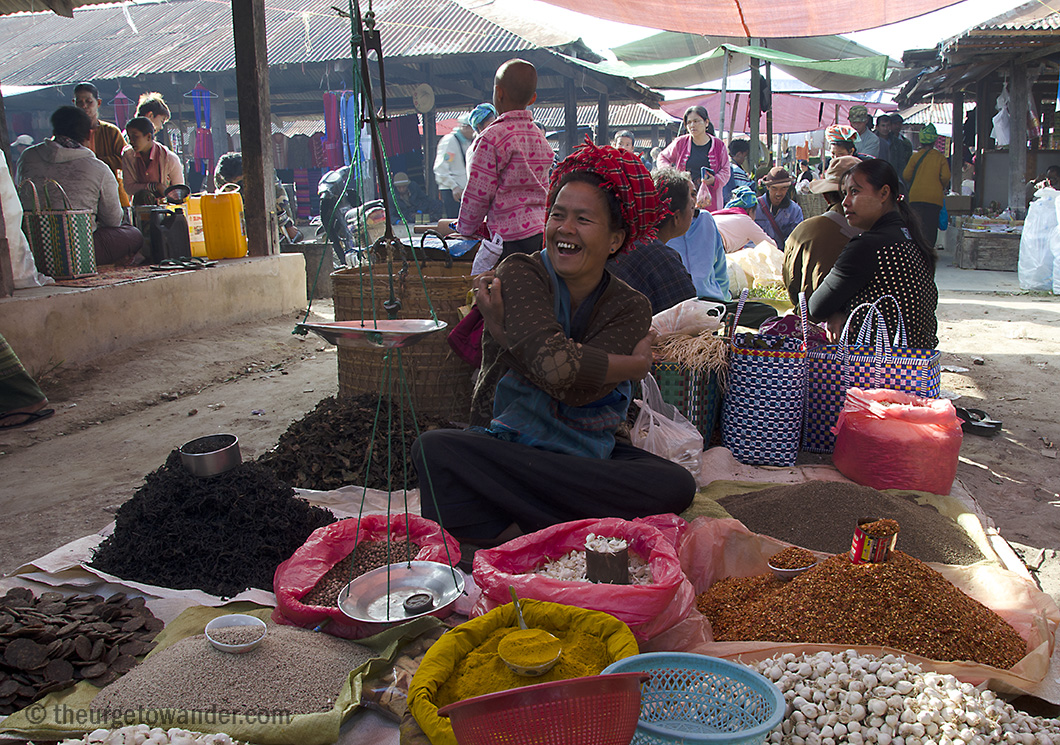 Farmers Market, Nam Pan village (Inle Lake)