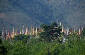 View from Shwe U Min Pagoda, Pindaya