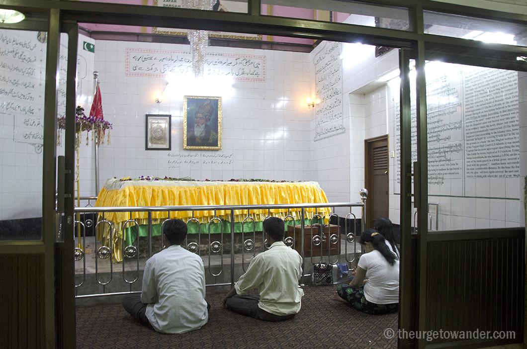 The Dargah of Bahadur Shah Zafar in Yangon.