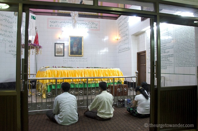 The Dargah of Bahadur Shah Zafar in Yangon.