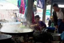Fish soup vendor