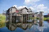 Floating fishermen's village, Inle Lake