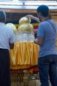 Buddha buried under gold leaf!