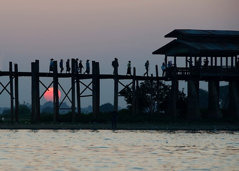 UBein Bridge, Myanmar