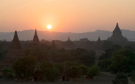 Sunset from Shwesandaw Pagoda