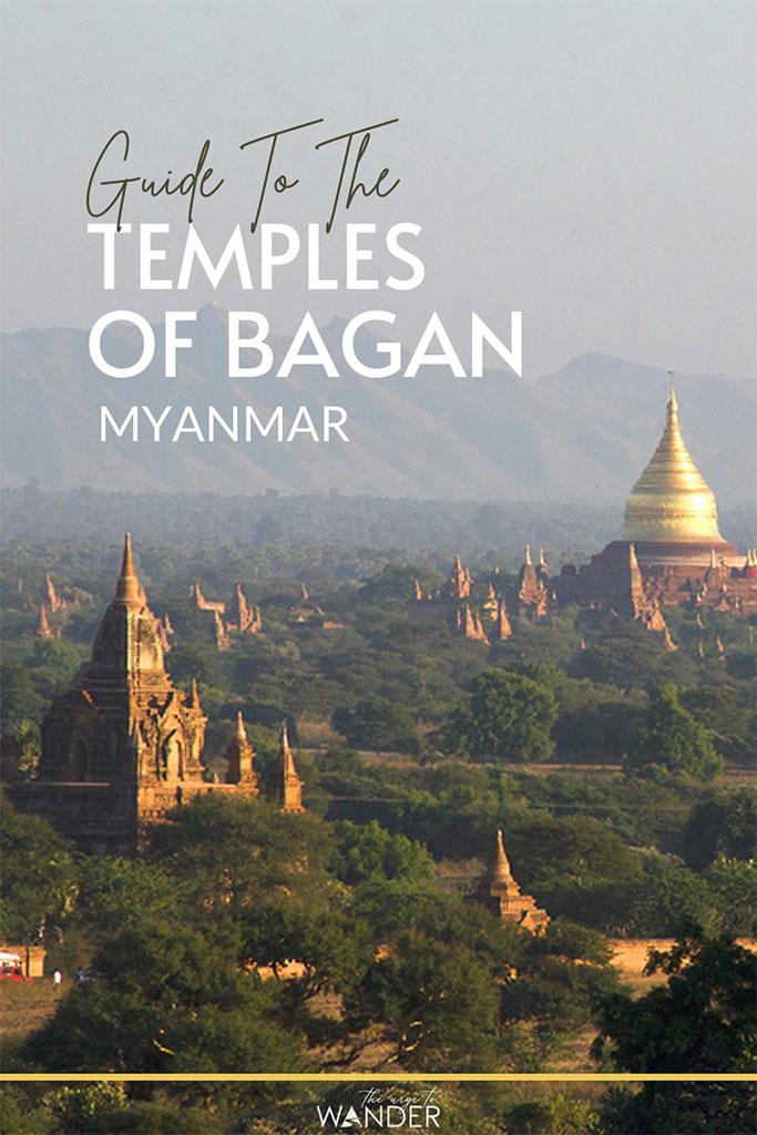 View of Bagan temples and pagodas during golden hour - A guide to the best Bagan temples and pagodas to visit