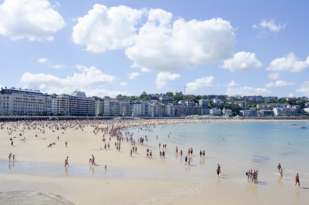 Playa La Concha, consideredthe most beautiful urban beach in Europe