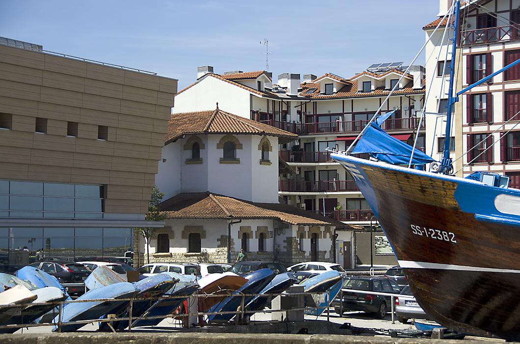 Boats lined up along the marina- Hondarribia, Spain