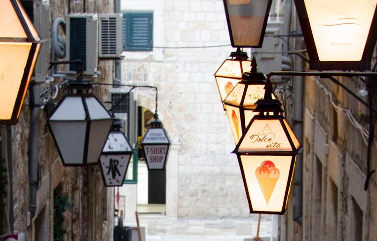 Ice cream shop below apartment, Dubrovnik