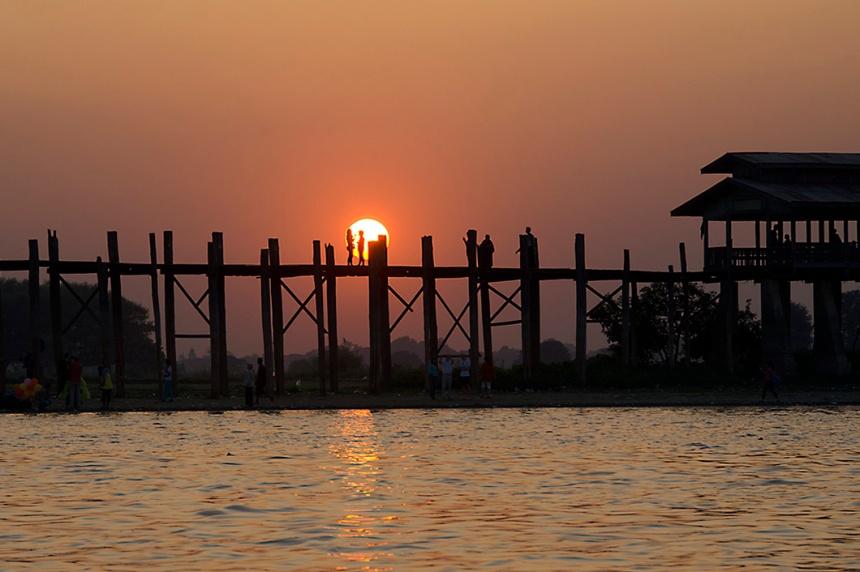 Sunset at U Bein Bridge