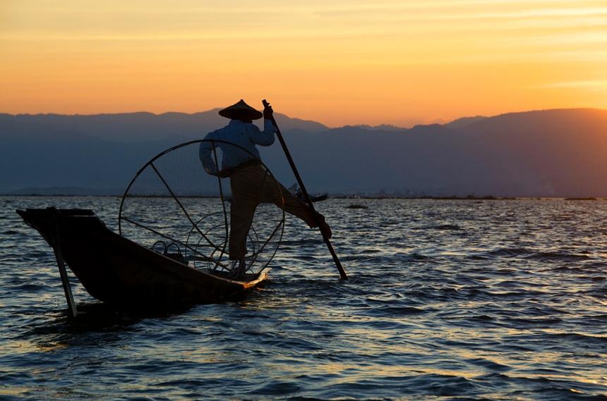 Intha fisherman on Inle Lake