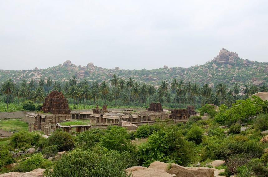 Achuttaraya temple from Matanga hill.