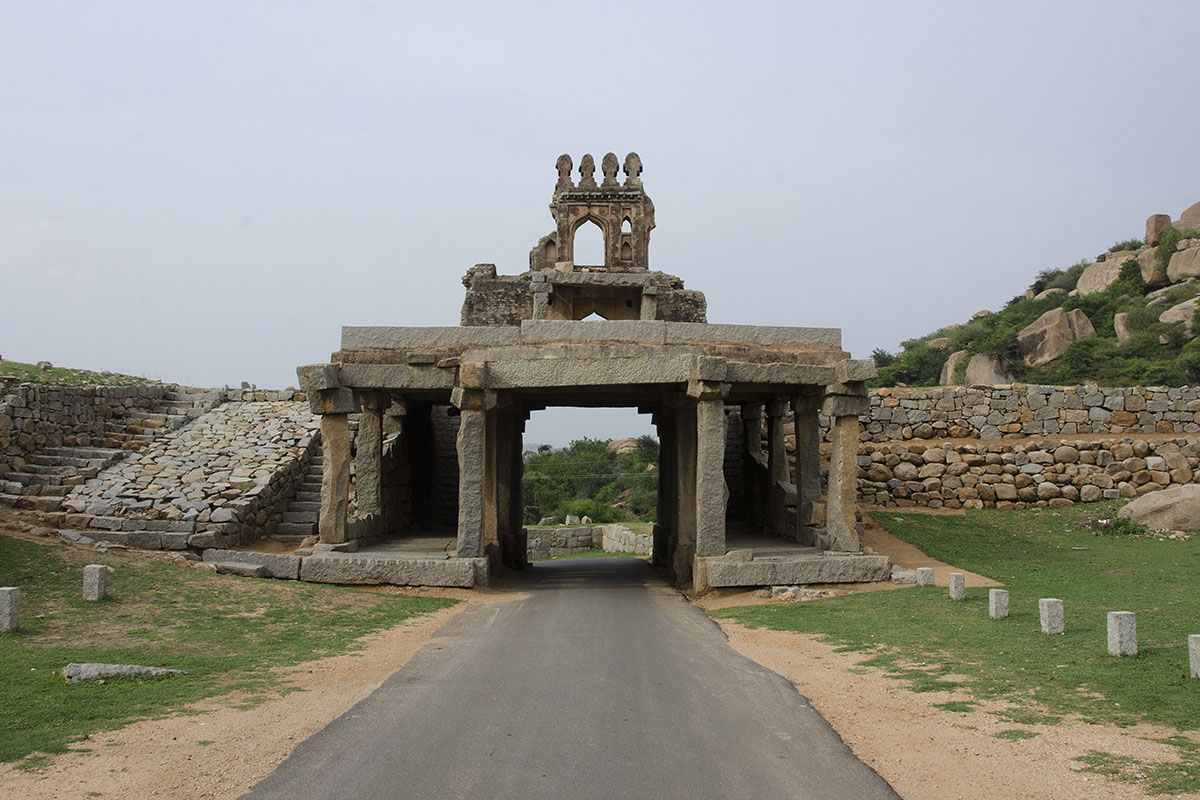 Two storied gate and fortification